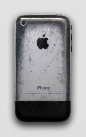 An image of a well-used original iPhone