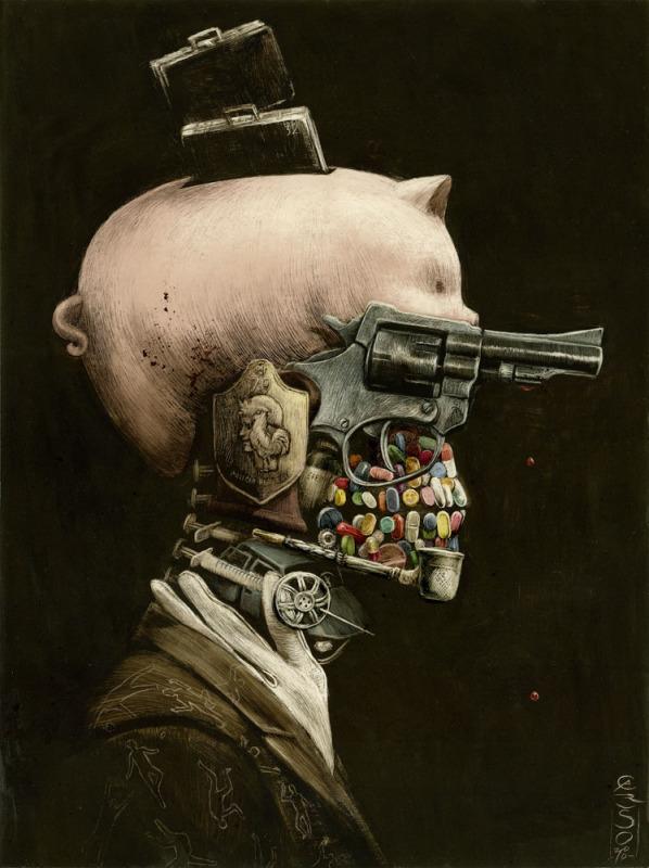 'Retrato del Delito' by Santiago Caruso