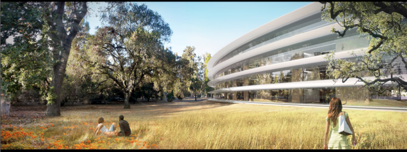 Facade Rendering of proposed Apple HQ