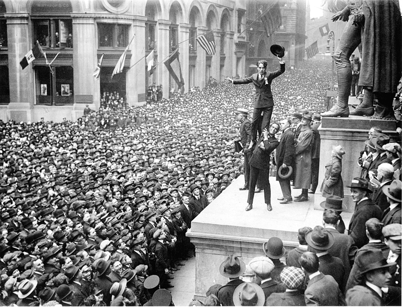 Charlie Chaplin and Douglas Fairbanks Occupy Wall St